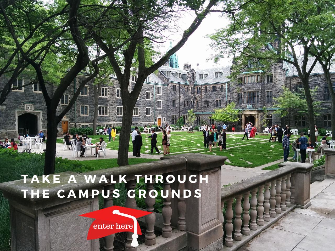 Take a walk through the campus - click for access