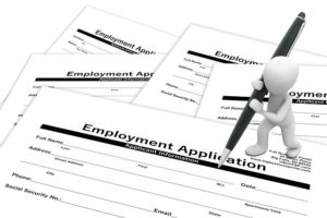 What to do when you cant find work - job application forms